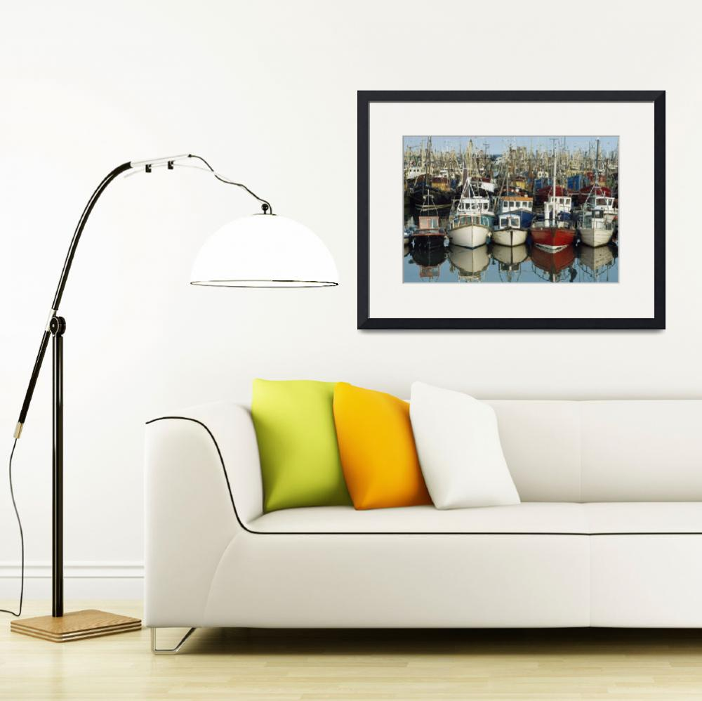 """Rows Of Boats In A Harbour, Kilkeel, County Down,&quot  by DesignPics"