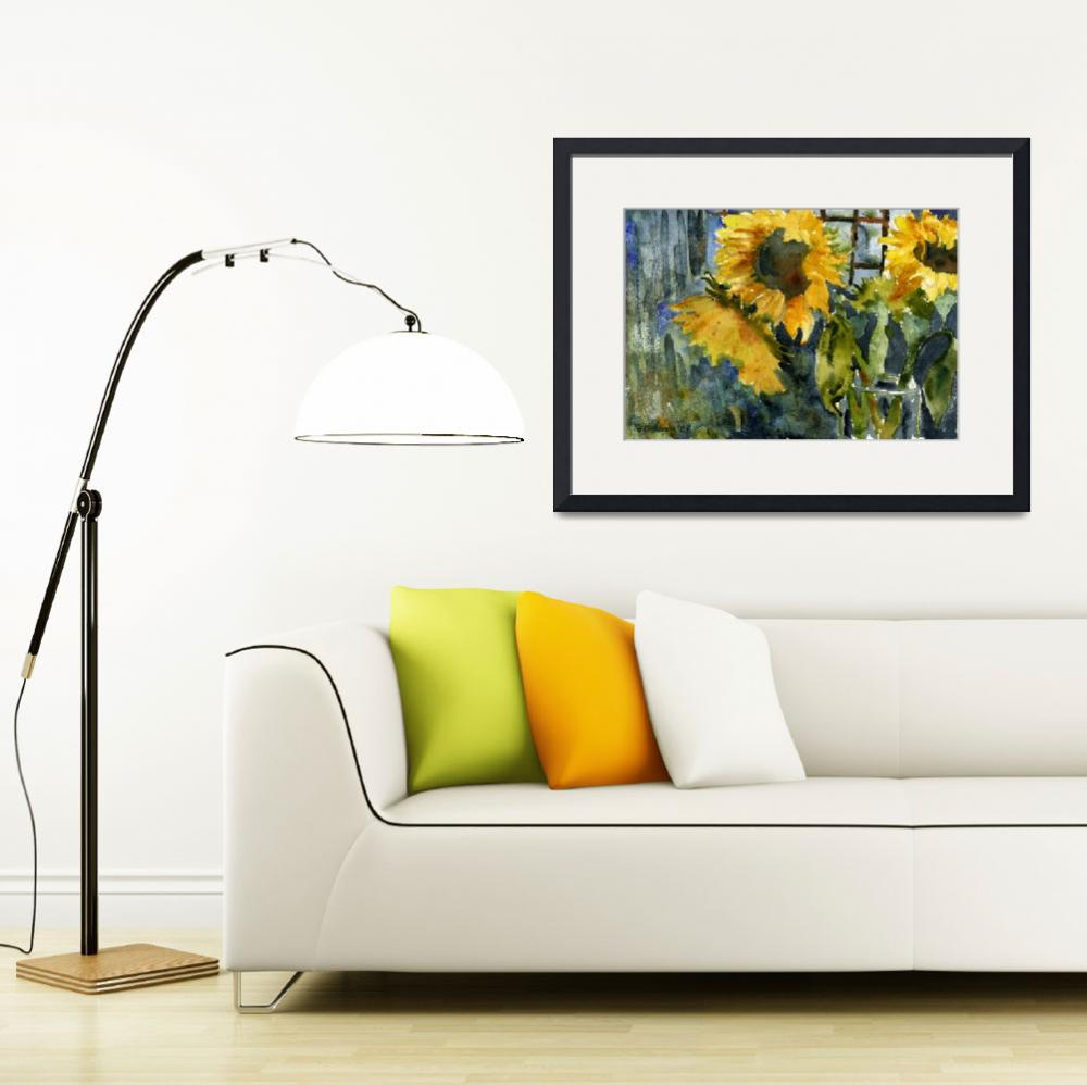 """Sunflowers and a Vase&quot  (2008) by schulmanart"
