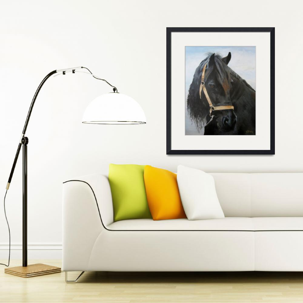 """Friesian Horse&quot  (2013) by Eldikart"