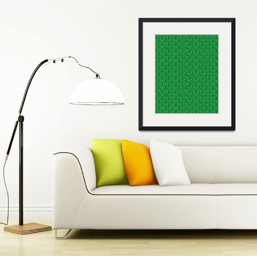 """Green Zebra Pattern Print&quot  (2015) by ValeriesGallery"