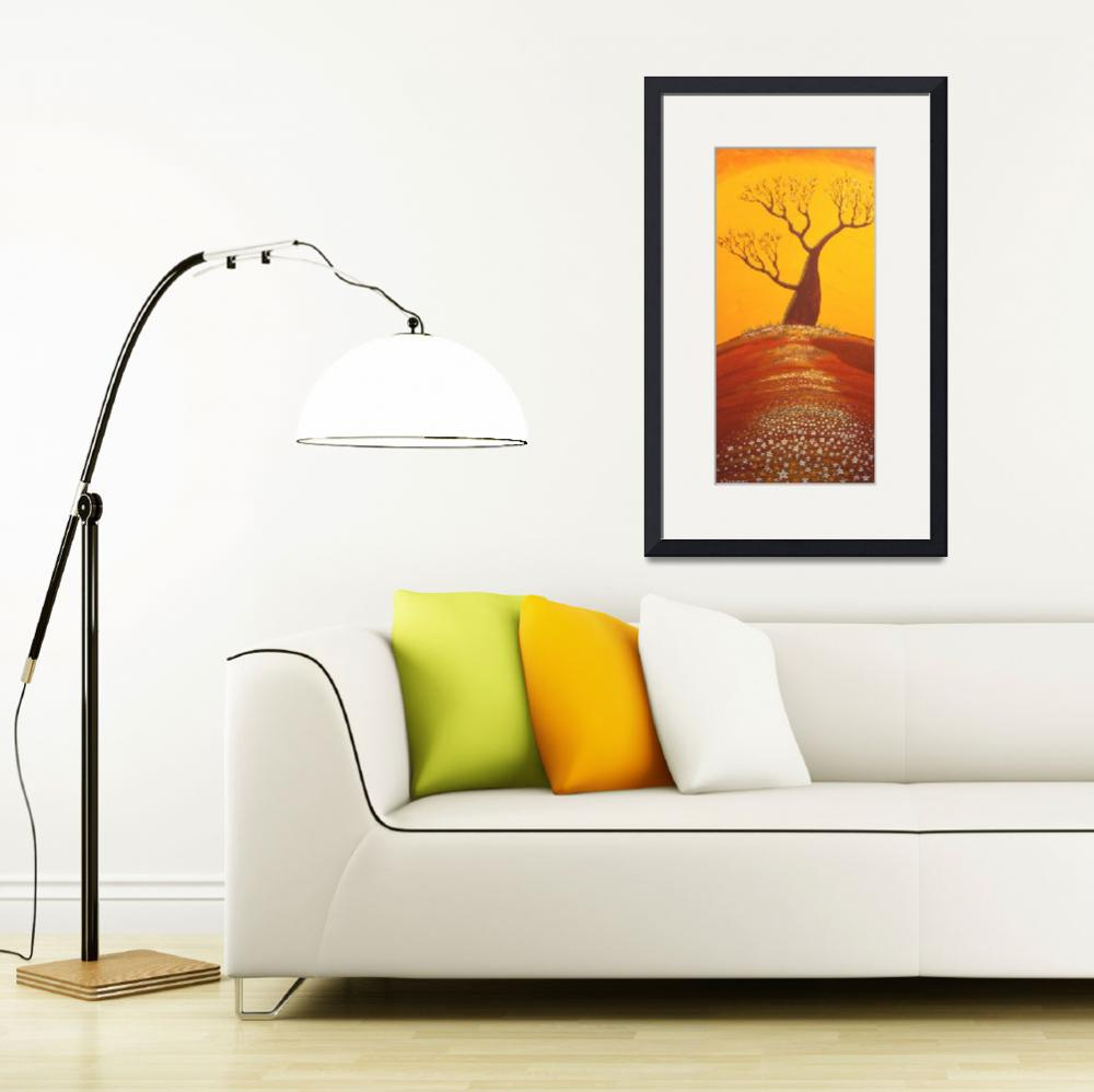 """GOLDEN OUTBACK SUMMER (Outback Australia)&quot  (2007) by RoseLangfordPrints"