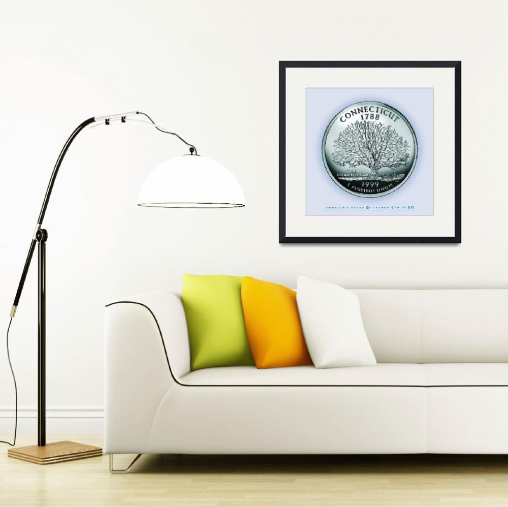 """Connecticut_portrait coin_05&quot  by Quarterama"