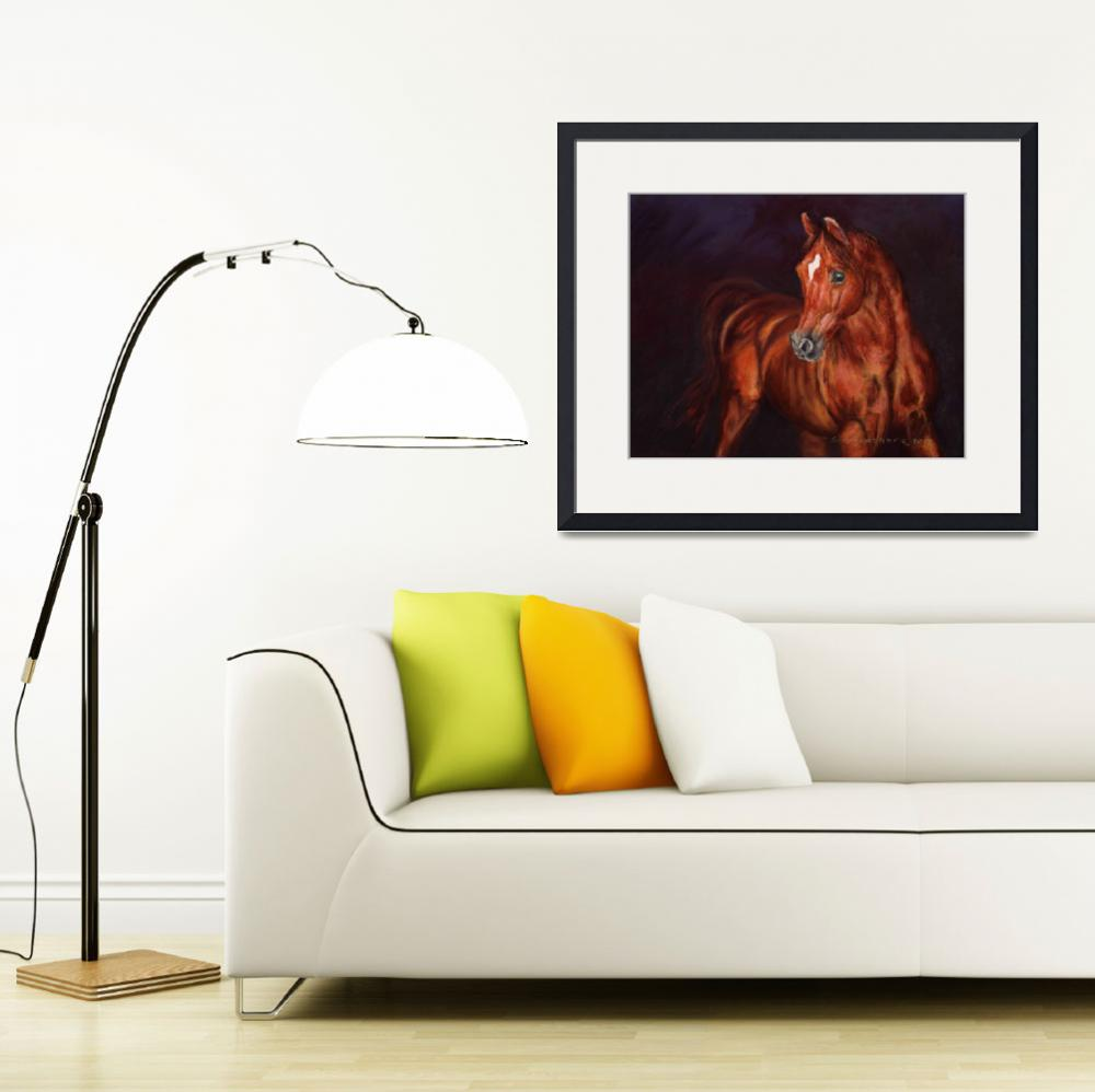 """Chestnut Arabian Stallion&quot  (2012) by Sue_Deutscher"