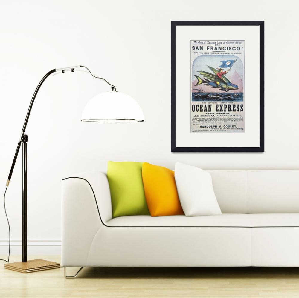 """Ocean Express Clipper Ship Vintage Advertisement&quot  by fineartmasters"