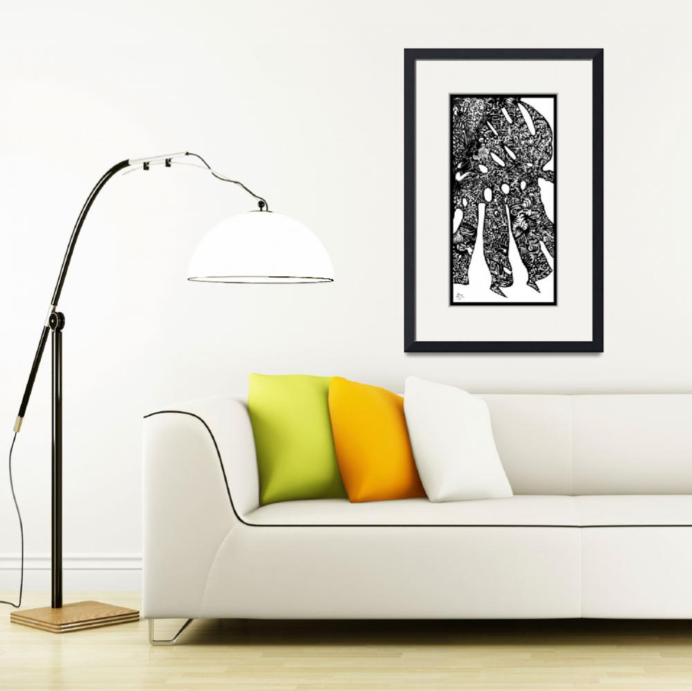 """Monstera II: Fantasy Philodendron&quot  by DouglasGriffin"