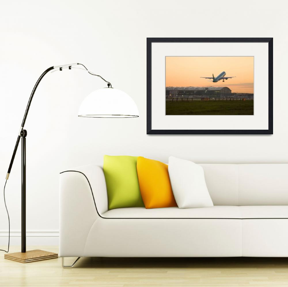 """Commercial airplane taking off at Heathrow&quot  (2009) by birdlike"