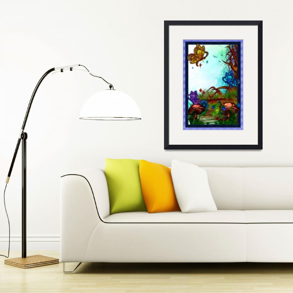 """Bonnie Lake Whimsical Artwork&quot  (2011) by ReneeLozenGraphics"
