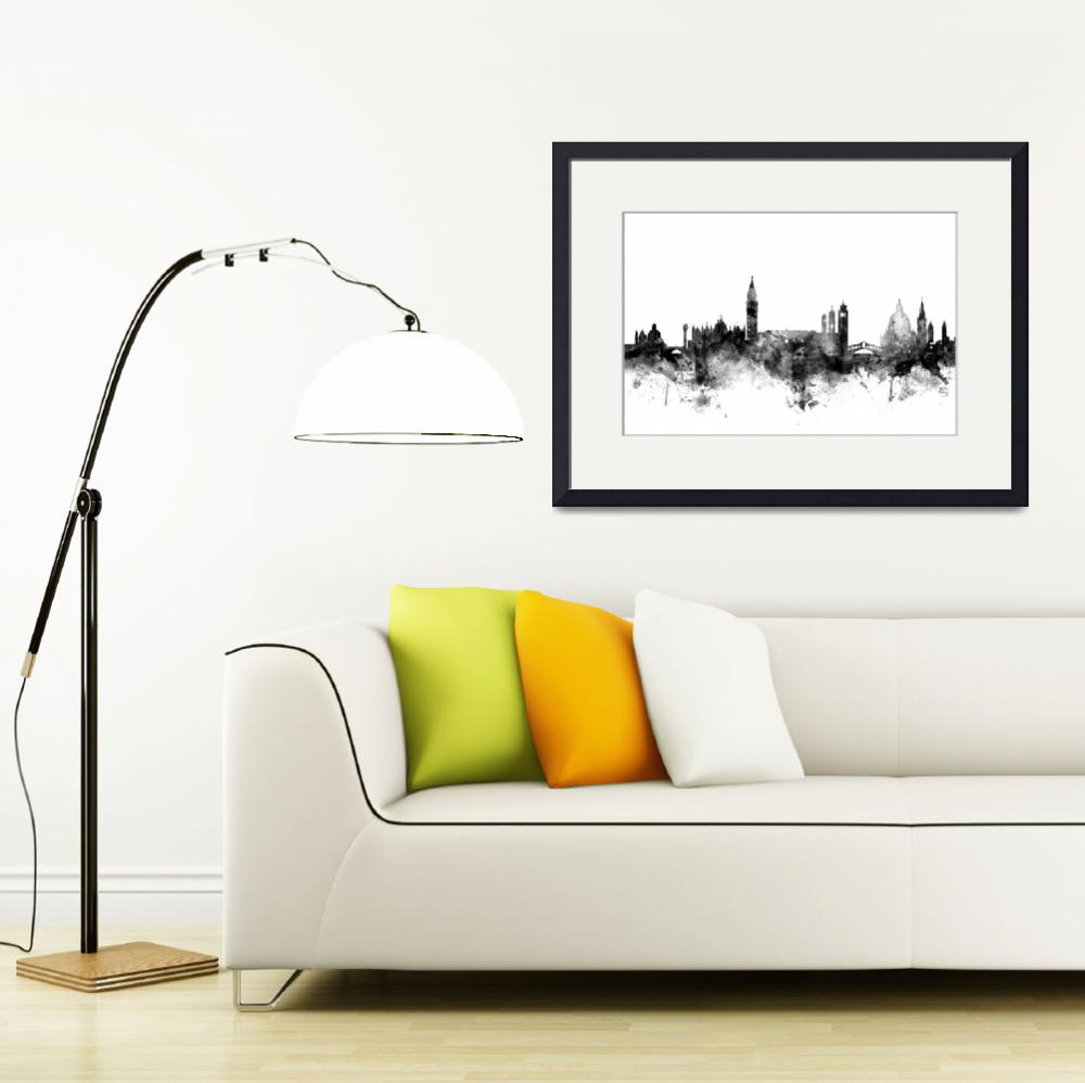 """Venice Italy Skyline&quot  (2015) by ModernArtPrints"