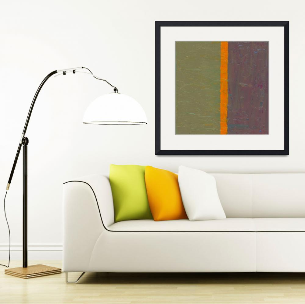 """Orange Stripe with Grey and Purple&quot  (2016) by Michelle1991"