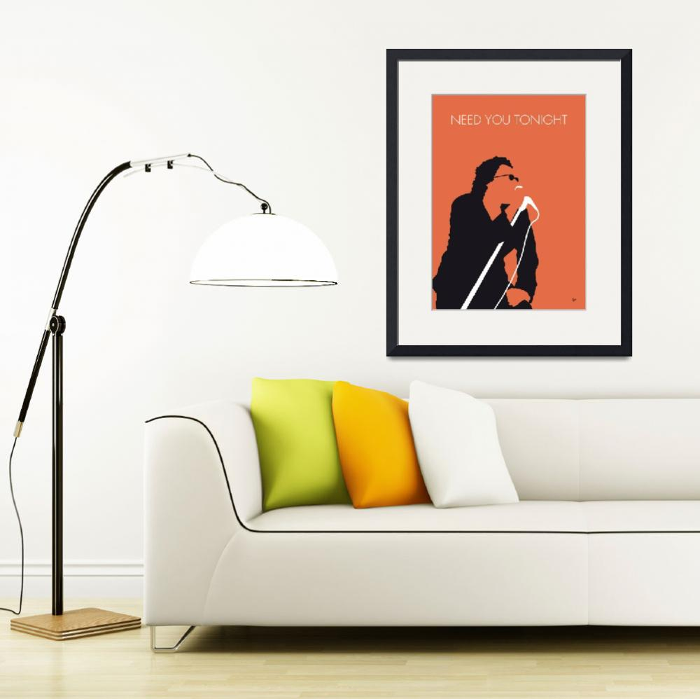 """No033 MY INXS Minimal Music poster&quot  by Chungkong"