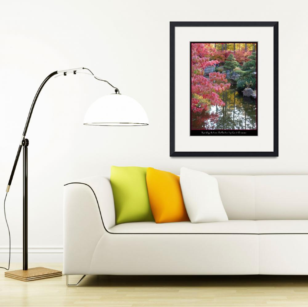 """Sparkling Autumn Reflection Poster&quot  (2008) by Groecar"