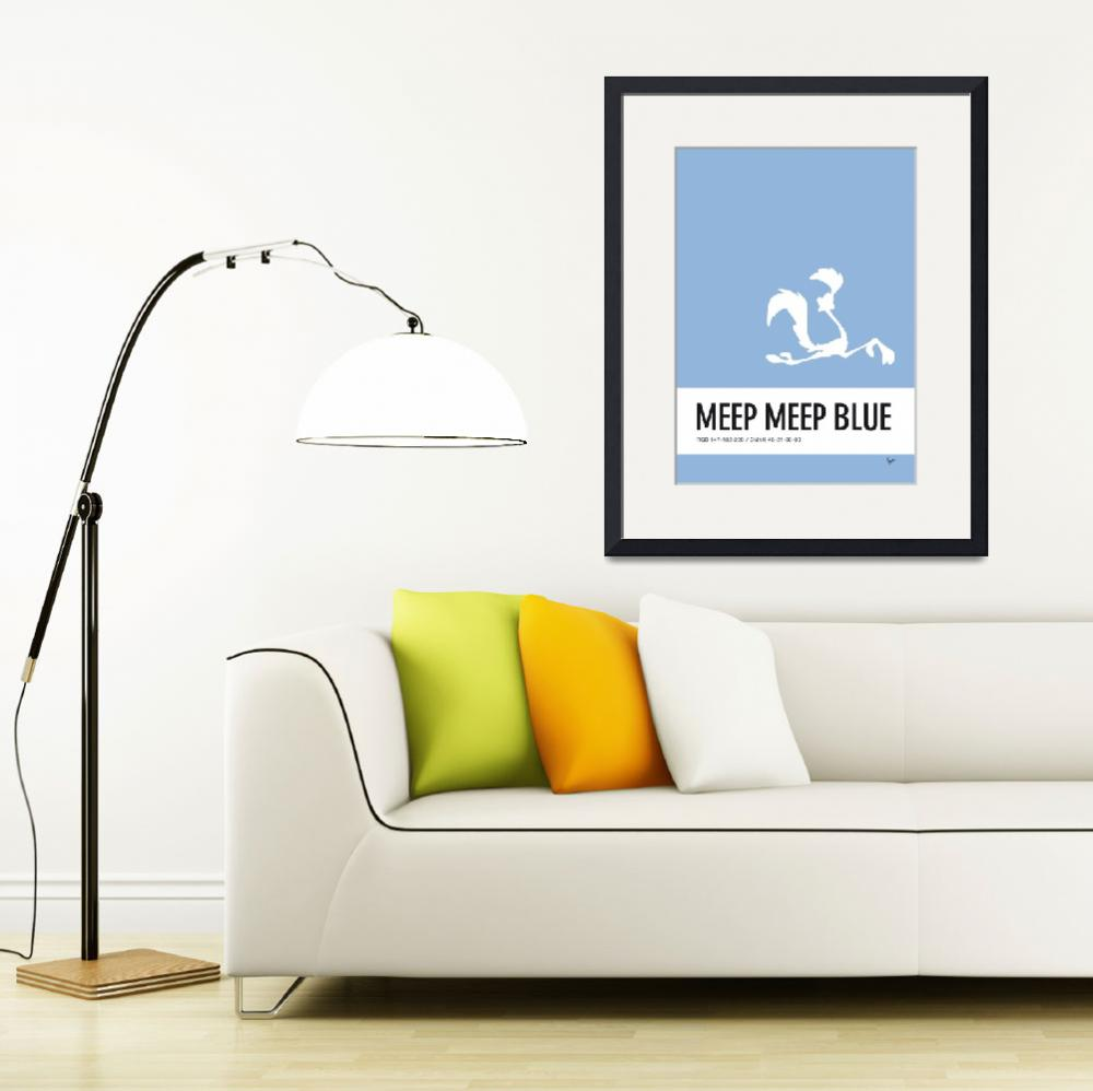 """No05 My Minimal Color Code poster Road Runner&quot  by Chungkong"