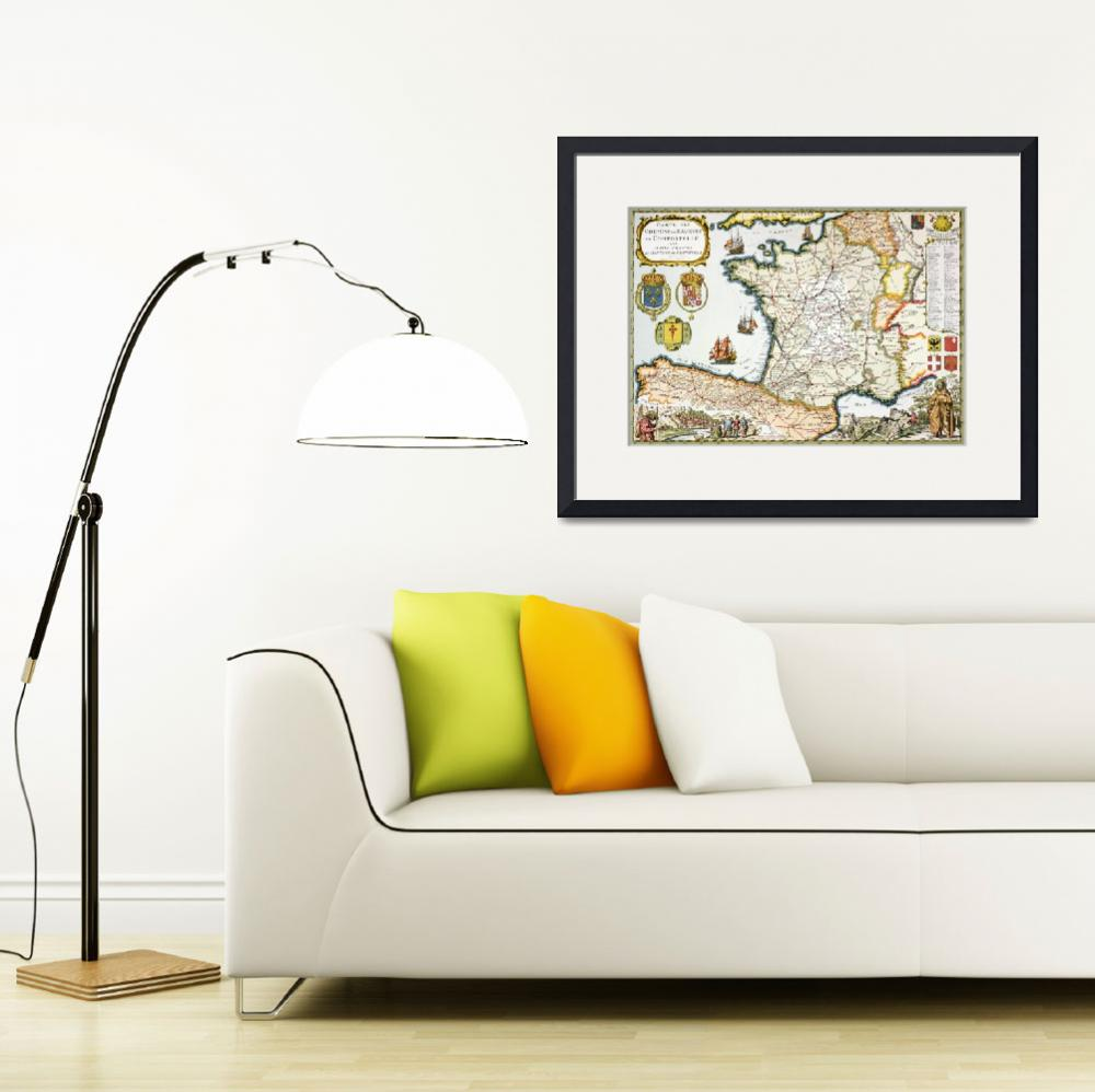 """Reproduction of Map of Routes of St. James of Comp&quot  by fineartmasters"
