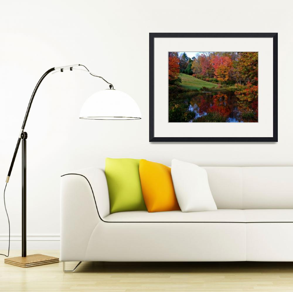 """Fall Scene In Petersham Massachusetts&quot  (2010) by bavosiphotoart"