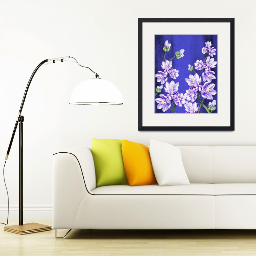 """Purple Flowers Blue Blue Sky&quot  (2015) by IrinaSztukowski"