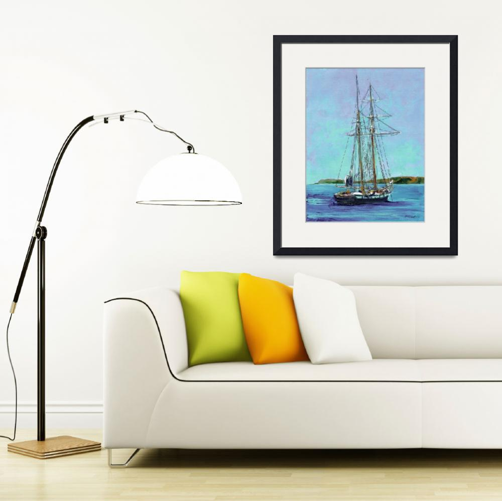 """The Californian - Tallship by RD Riccoboni&quot  by BeaconArtWorksCorporation"