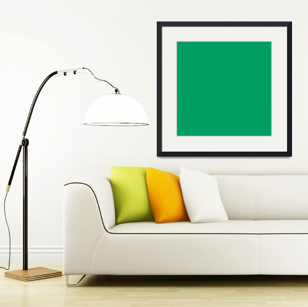 """Square PMS-347 HEX-009E60 Green&quot  (2010) by Ricardos"