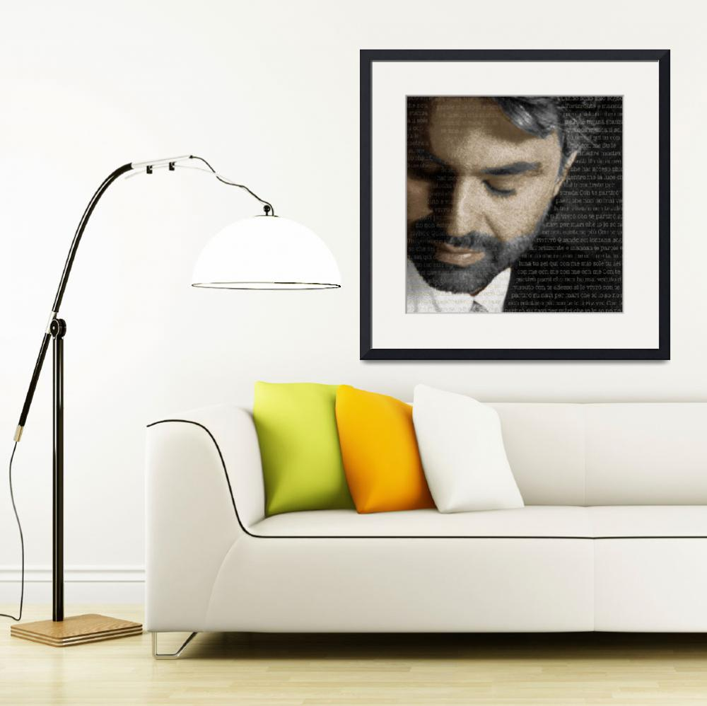 """Andrea Bocelli And Lyrics Square&quot  (2015) by RubinoFineArt"