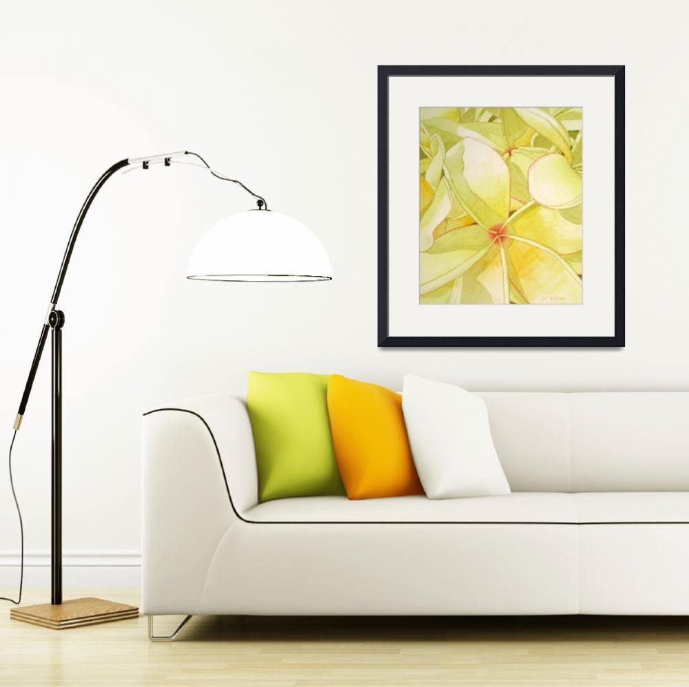 """Yellow Frangipani&quot  (2008) by joeyartist"