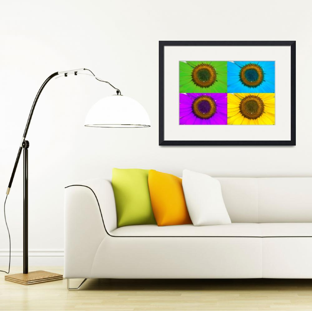 """Colorful Sunflower Collage&quot  (2011) by lightningman"