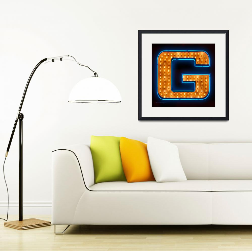 """Neon letter G&quot  (2009) by markdiederichsen"
