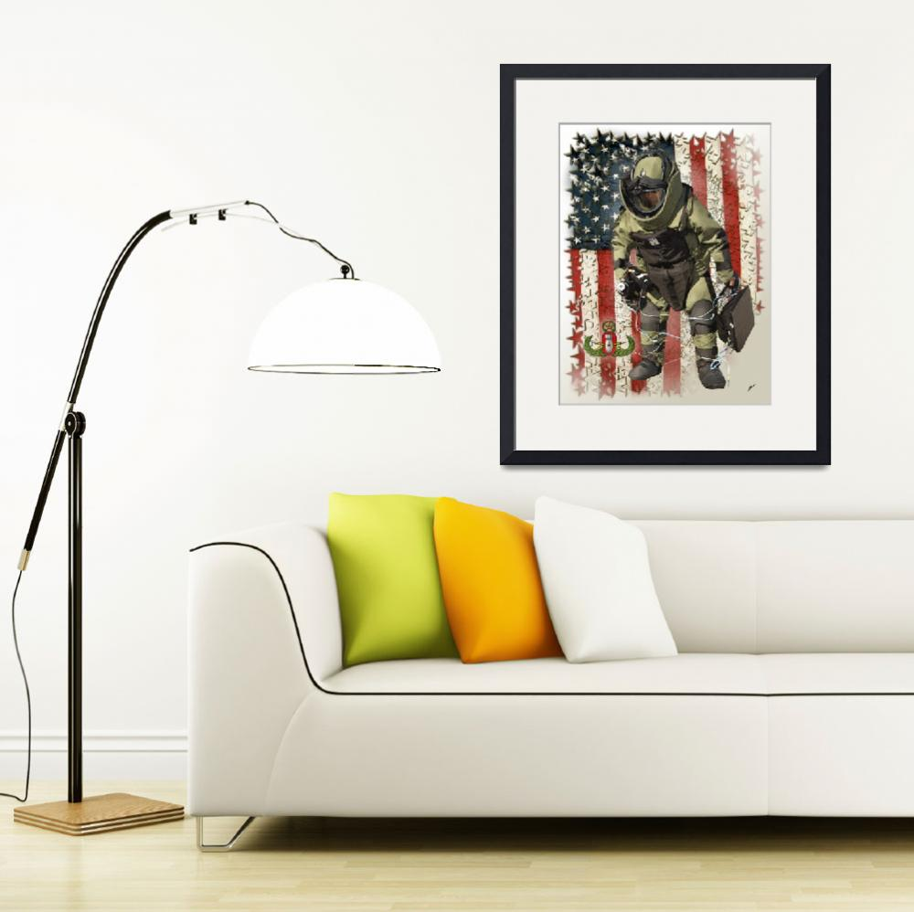 """EOD usflag Framed stars and USMapV&quot  by Columellaarts"
