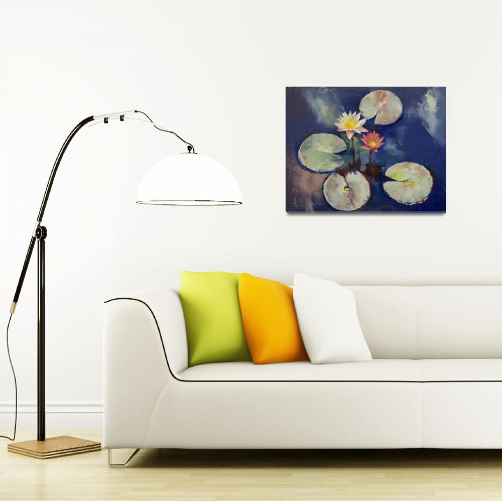"""Water Lily Painting&quot  by creese"