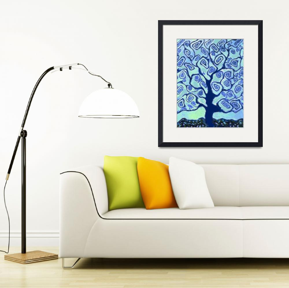 """Blue Tree&quot  (2007) by fractalartvicky"