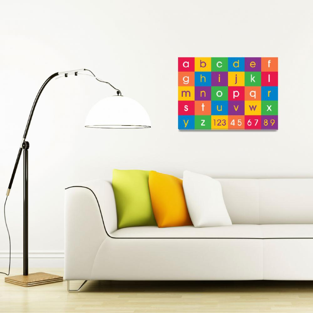 """Alphabet Colors&quot  (2011) by ModernArtPrints"