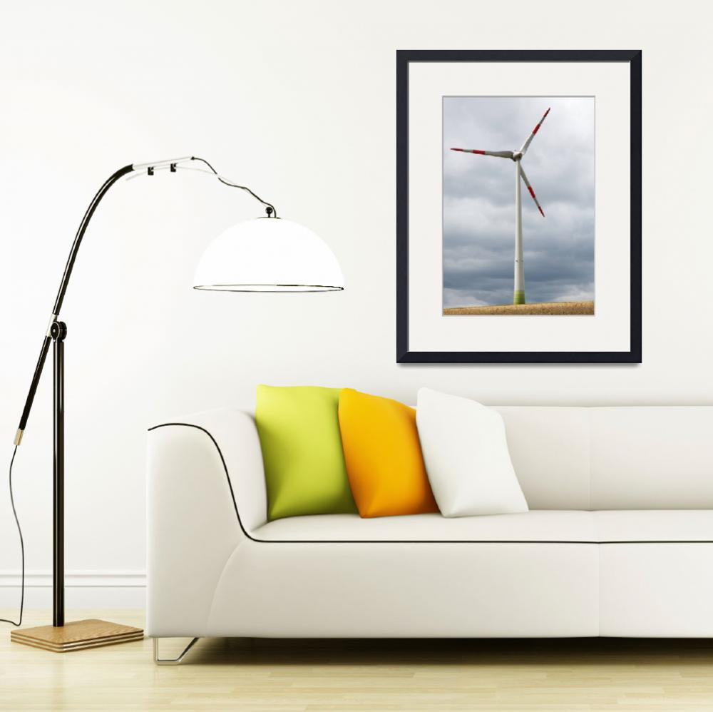 """Wind turbine in Germany&quot  (2012) by IanMiddletonphotography"