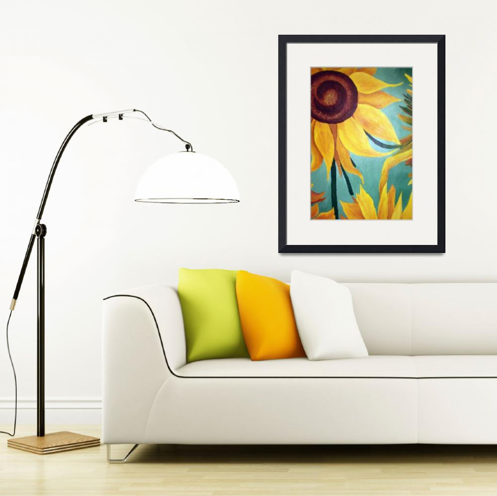 """Sunflower on Green&quot  (2009) by arteest"