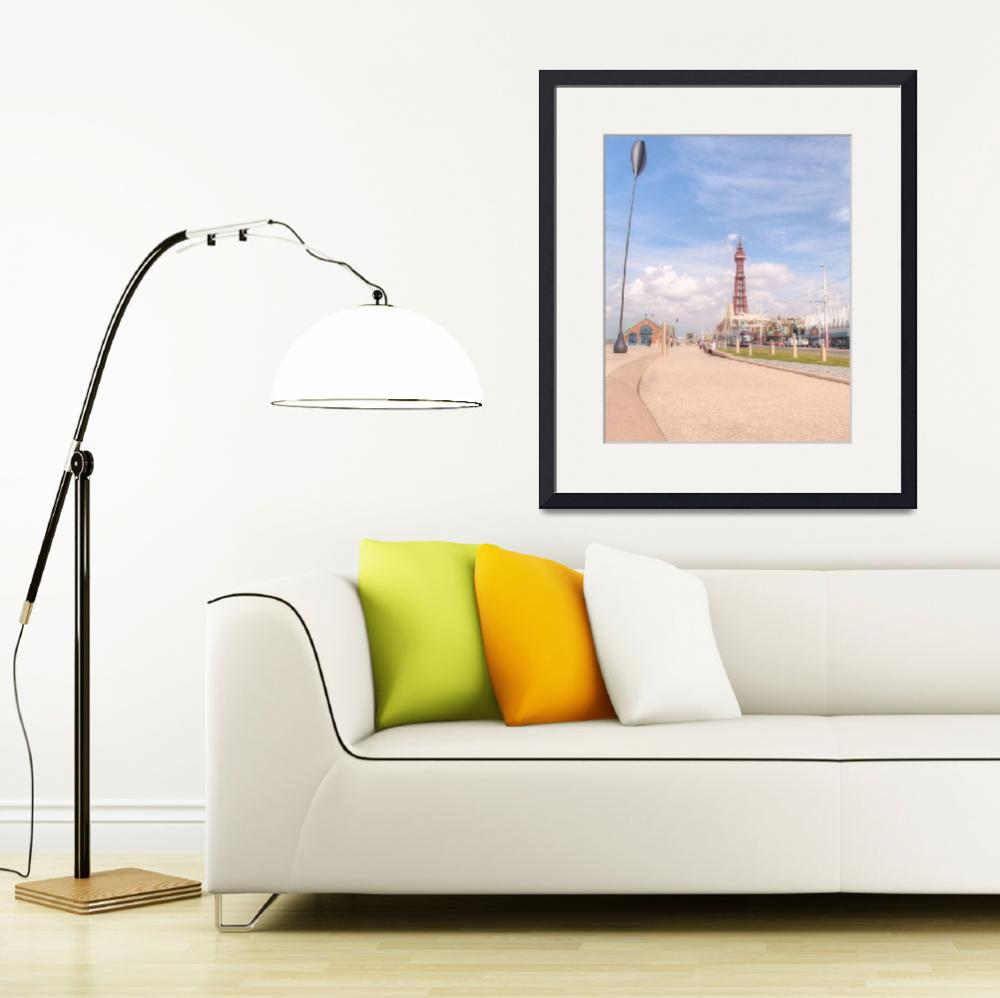 """Blackpool Tower and Oar&quot  by sarahc"