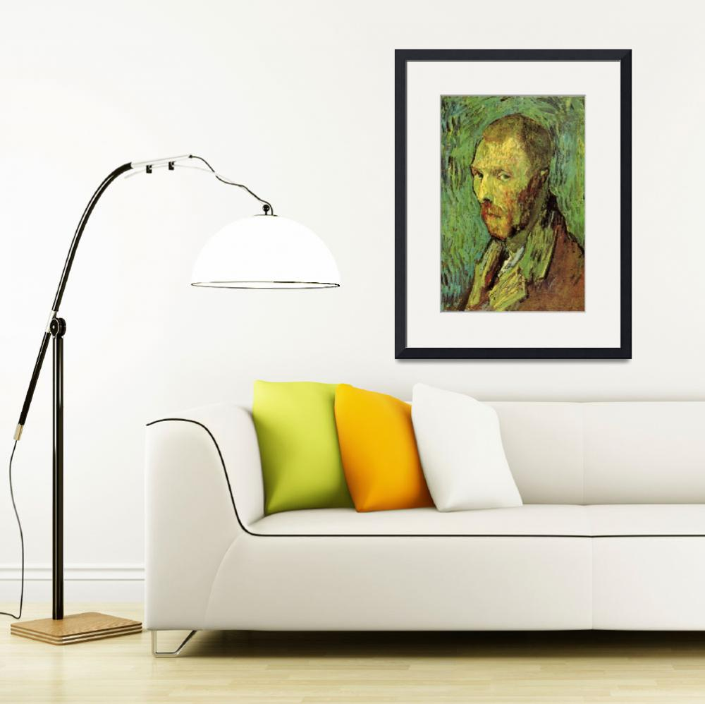 """van Gogh 1889 Self portrait - PD Image&quot  by AllenGraihCompany"