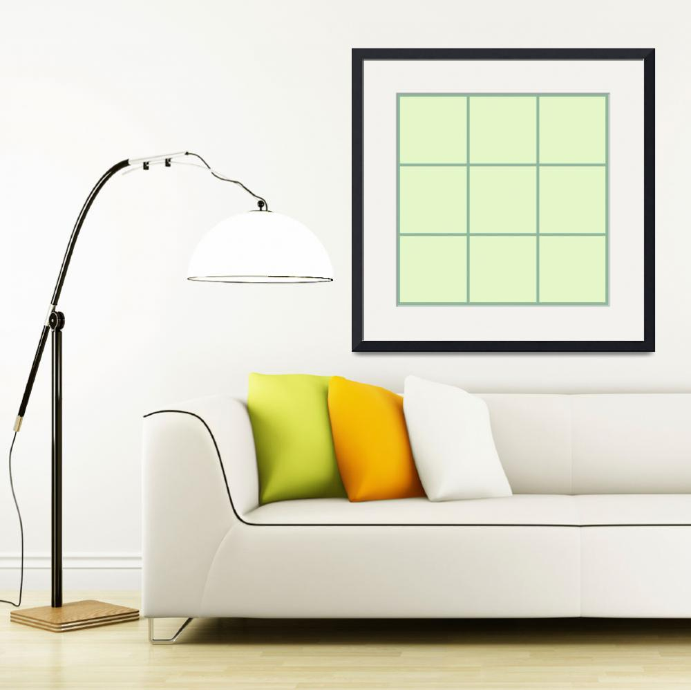 """Green Window 035 Canvas Contemporary Modern&quot  (2010) by Ricardos"
