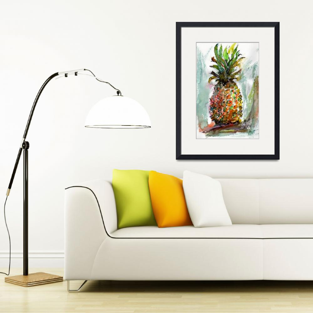 """Pineapple Sweet Ripe Ananas Fruit&quot  (2016) by GinetteCallaway"