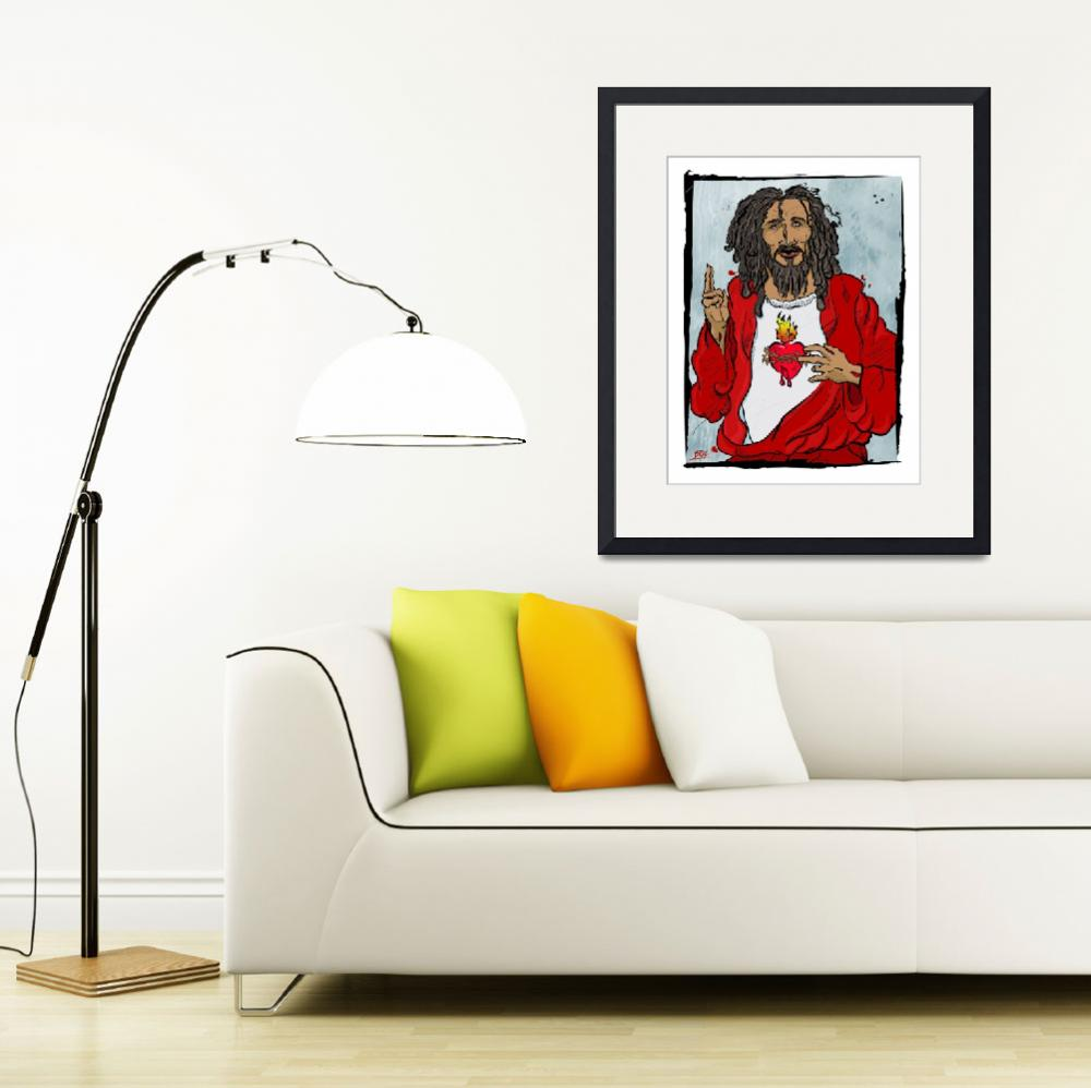 """Jesus With Heart&quot  (2005) by tBaneArt"