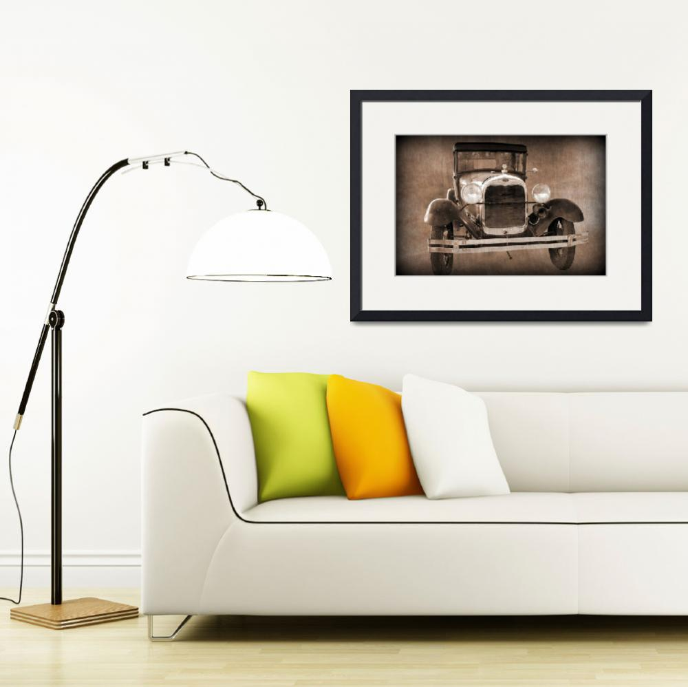 """1928 Ford Model A Coupe&quot  (2012) by bettynorthcutt"