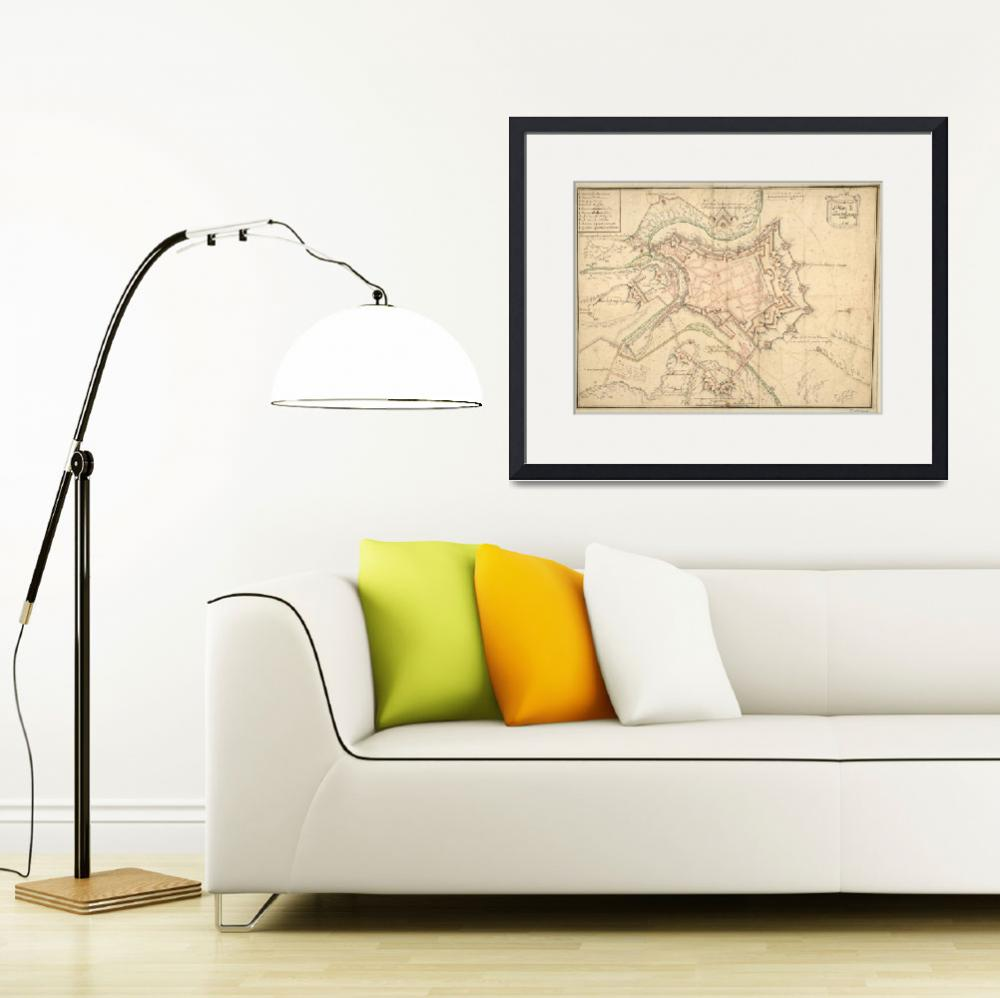 """Vintage Map of Luxembourg (1686)&quot  by Alleycatshirts"