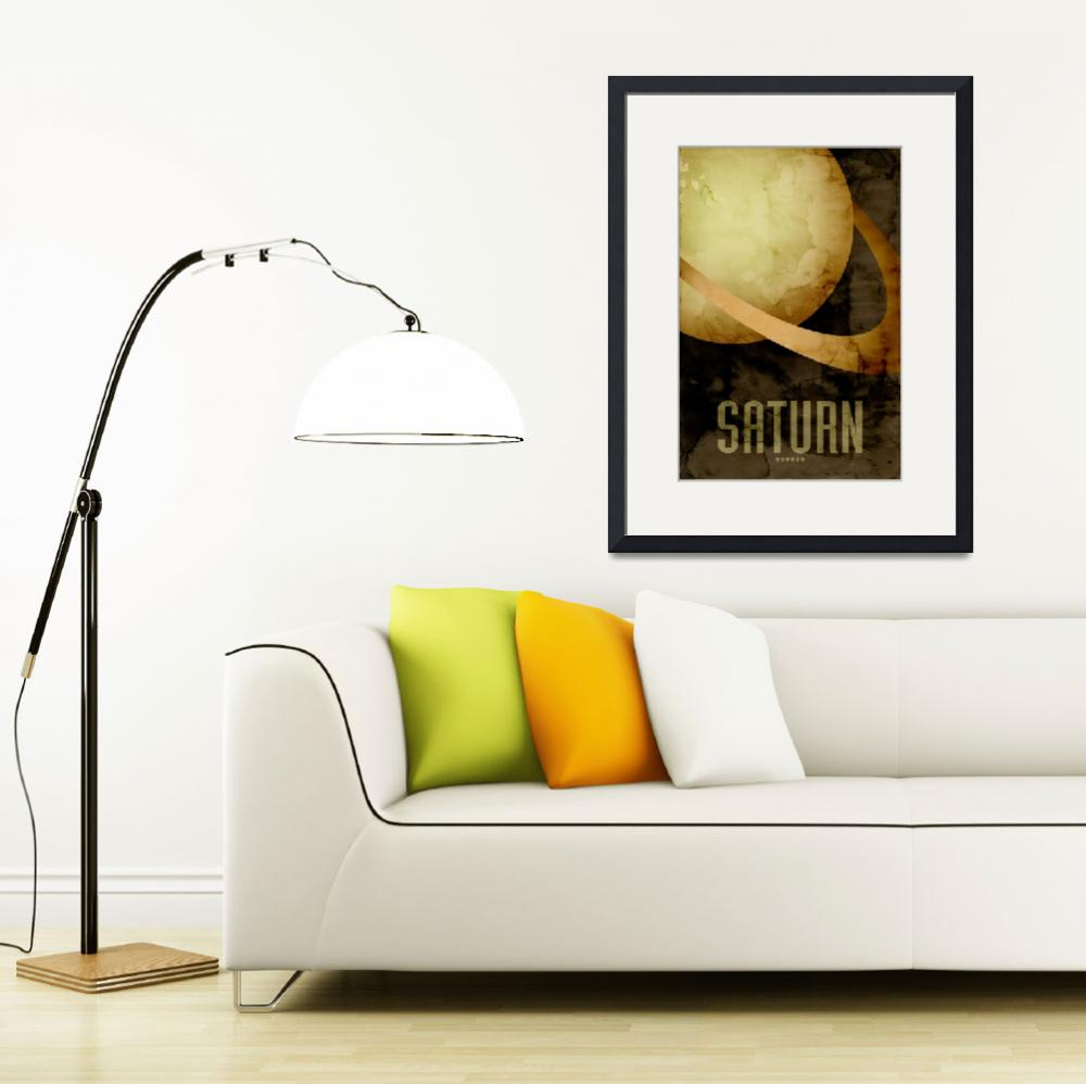 """The Planet Saturn&quot  (2011) by ModernArtPrints"