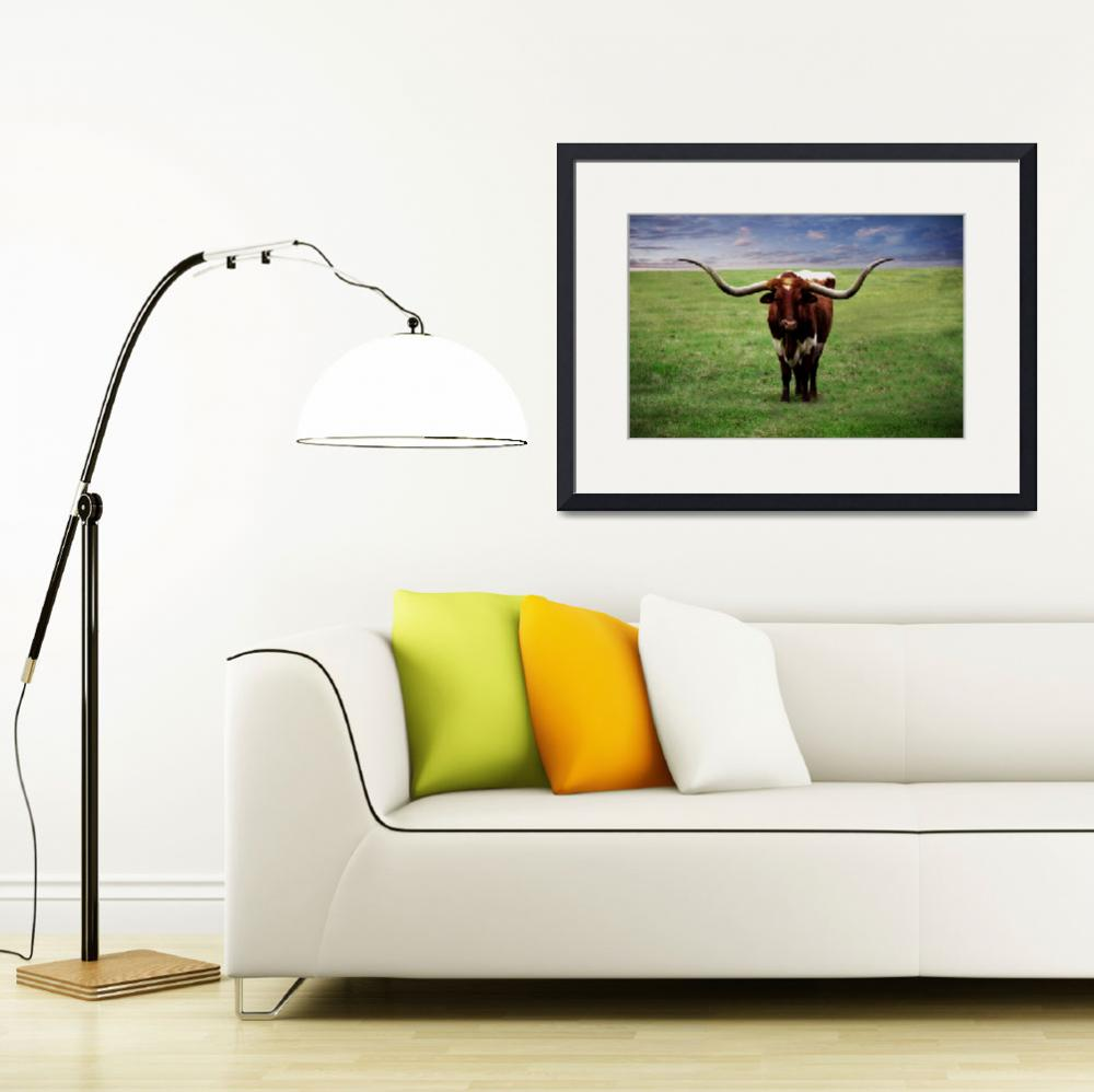 """Photo Texas Longhorn A010816&quot  (2016) by MasArtStudio"