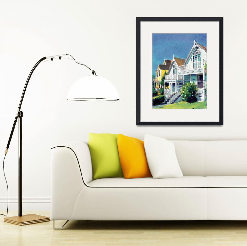 """Bankers Hill Victorian Cottages by RD Riccoboni&quot  by BeaconArtWorksCorporation"