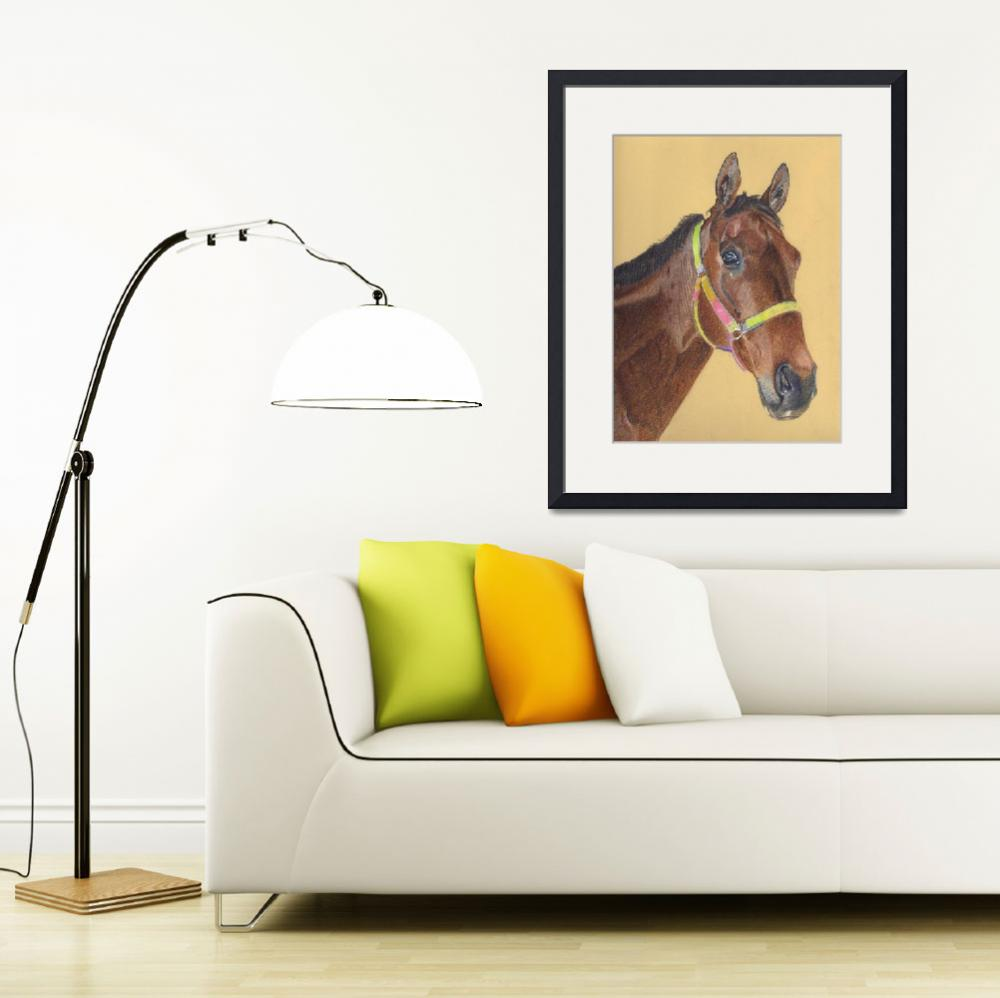 """Thoroughbred Horse Colored Pencil Art&quot  (2006) by PatriciaBarmatz"