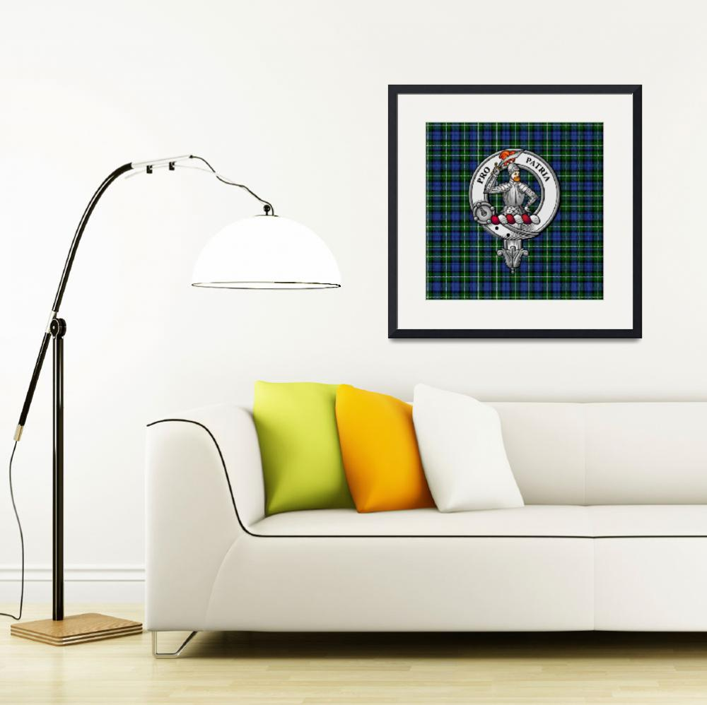 """Bannerman Scottish Clan Badge and Tartan&quot  (2016) by ivycreekstudio"