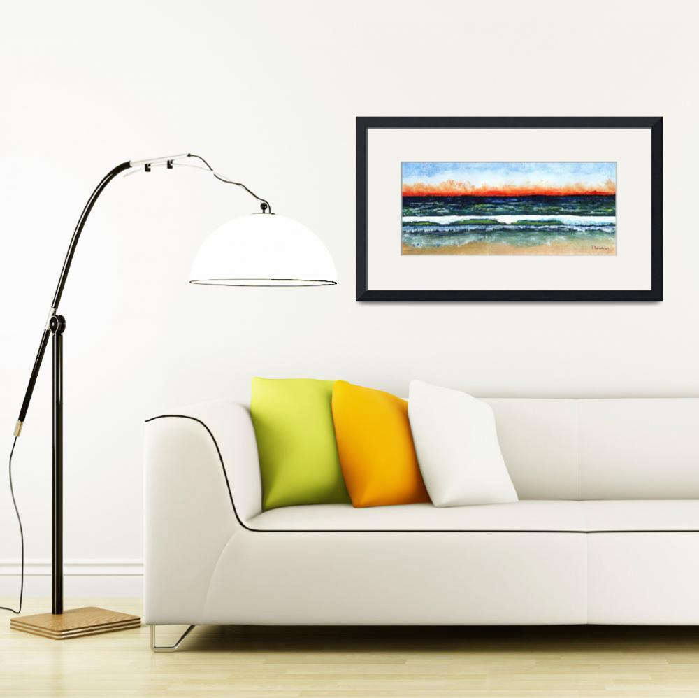 """Sunrise Seascape Beach C3&quot  (2015) by Ricardos"