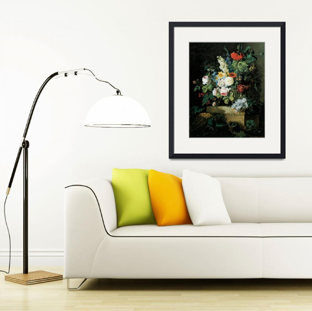 """Redoute Elaborate Flowers Still LIfe&quot  by oldies"