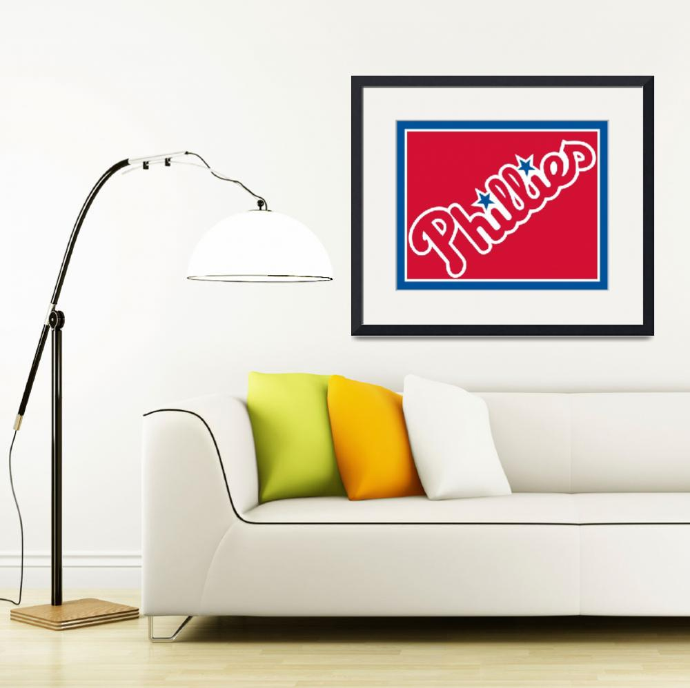 """phillies_logo&quot  by RubinoFineArt"