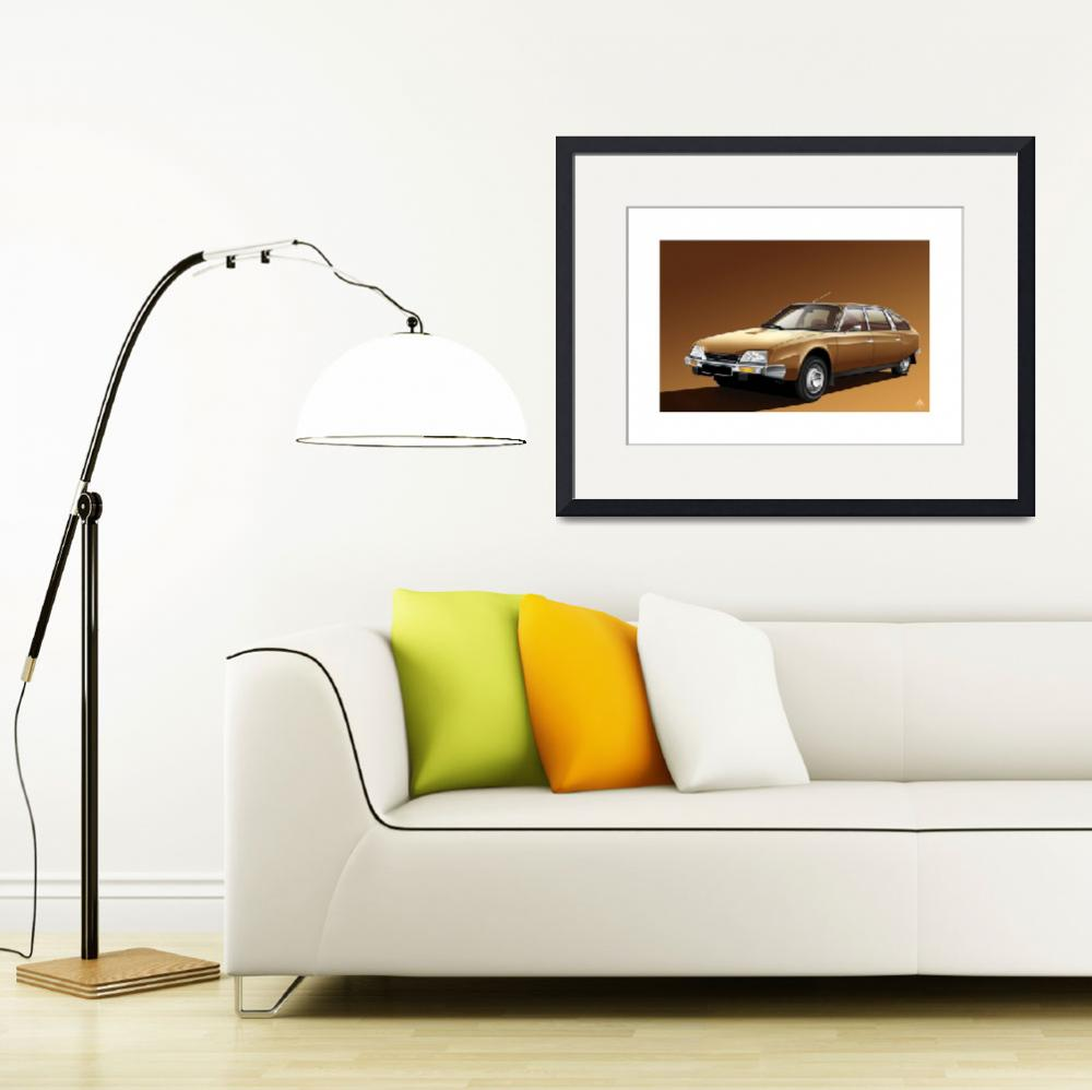 """C:\fakepath\Citroen Cx2000 1974 Copper&quot  (2012) by Auto-Graphics"