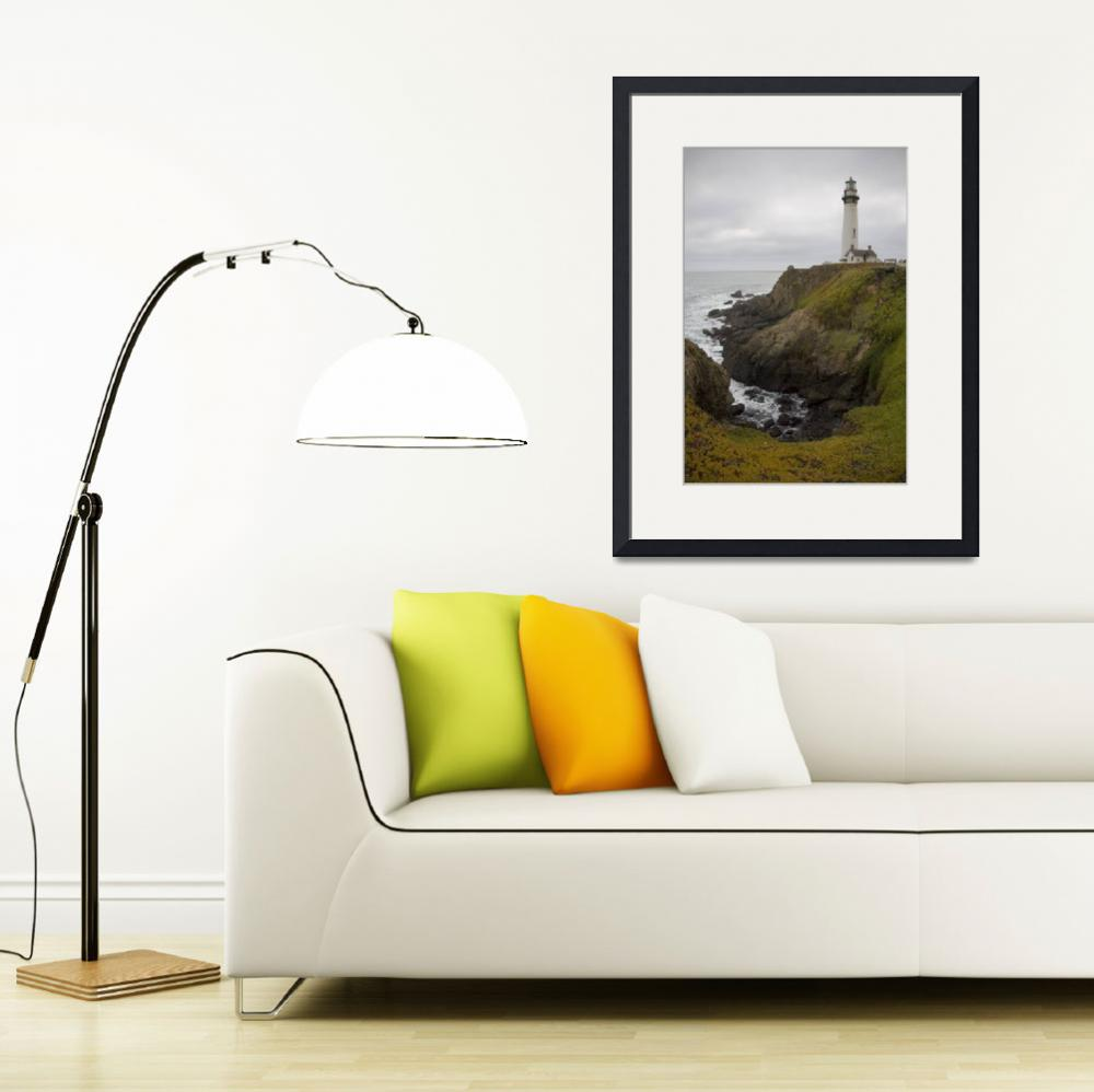 """Pigeon Point Lighthouse - ocean seascape&quot  (2008) by miir"