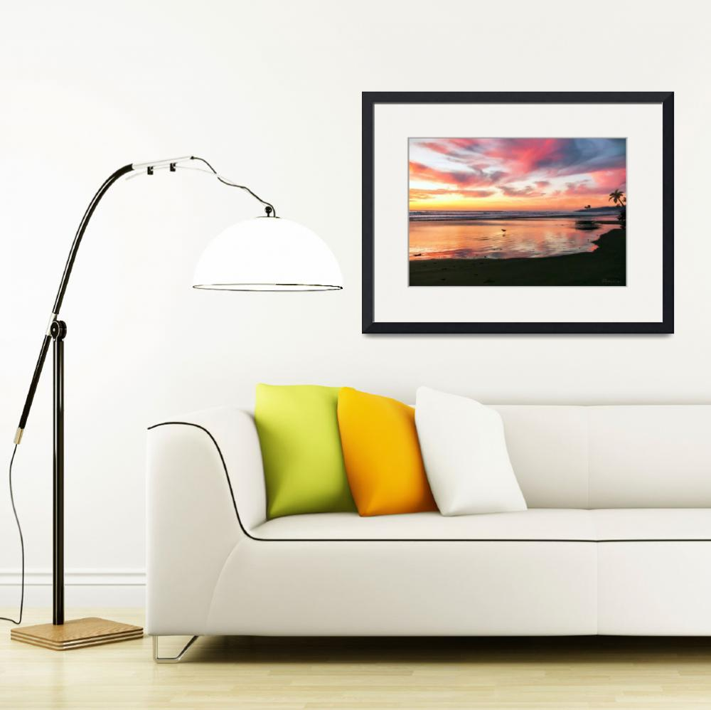 """Tropical Sunrise Morning Bliss Seascape C8&quot  (2015) by Ricardos"