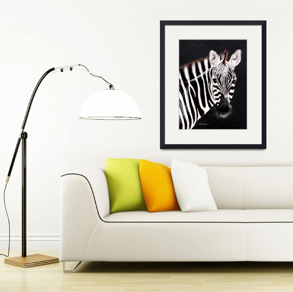 """ZEBRA #1  painting&quot  by AnimalsbyDiDi"